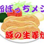 【野郎ぼっちメシ】5分で作る豚の生姜焼き【新型コロナ外出自粛企画】